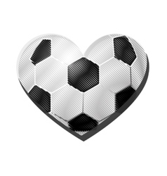 Heart shape soccer ball icon image vector