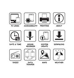 Icon basic button vector