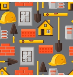 Industrial seamless pattern with housing vector image vector image
