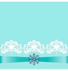 Lace border with jewelry vector