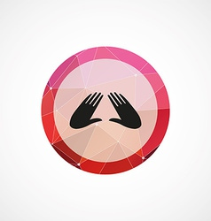 Massage circle pink triangle background icon vector