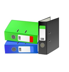 Multi-colored office folders vector image