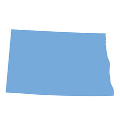 North dakota state map vector