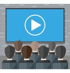 Online conference internet meeting video call vector
