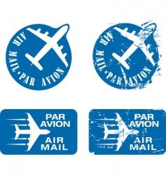 par avian rubber stamp vector image vector image