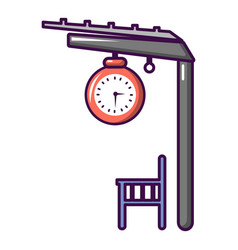 Platform railway icon cartoon style vector
