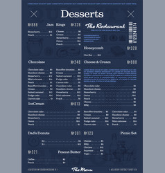 restaurant or cafe menu vintage design template vector image vector image