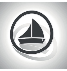 Sailing ship sign sticker curved vector