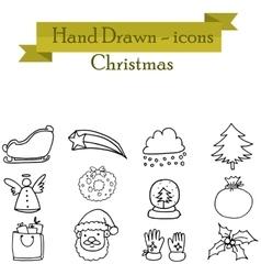 Set of christmas icons art vector