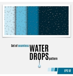 Set of water transparent drops seamless pattern vector image vector image