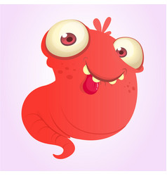 Silly cartoon red monster vector