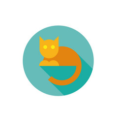 simple flat cat icon vector image