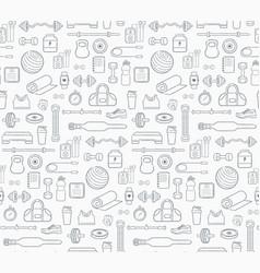 Sports equipment background vector