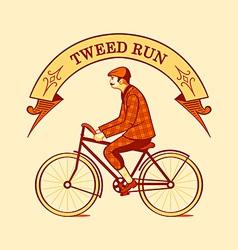 Tweed run symbol vector image