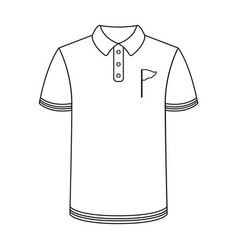 Uniform shirt for golfgolf club single icon in vector