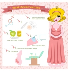 Pregnancy planning healthy vector