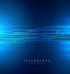 Technology background with abstract lines vector