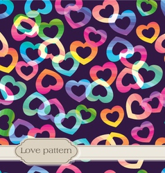 seamless rainbow hearts vector image
