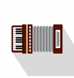 Russian folk accordion icon flat style vector