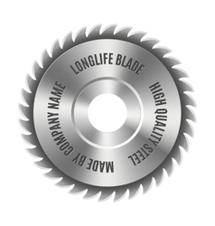 Steel blade for the saw vector