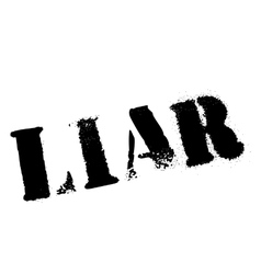 Liar rubber stamp vector