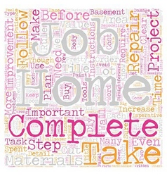 Home improvement rules to follow text background vector