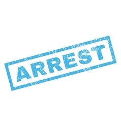 Arrest rubber stamp vector