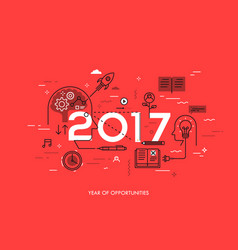 Infographic concept 2017 - year of opportunities vector