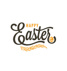 Easter vintage lettering on white background vector