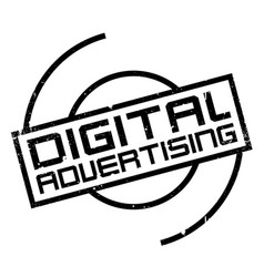 Digital advertising rubber stamp vector