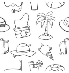 Collection of summer pattern style vector