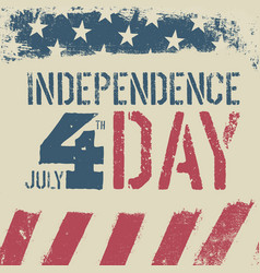 4th july independence day grunge american flag vector