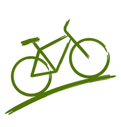 Green bike vector image