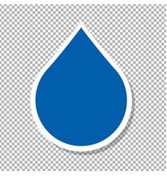 Water drop label vector