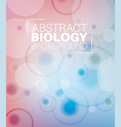Abstract biology background vector