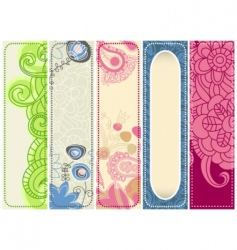 Spring banners collection vector