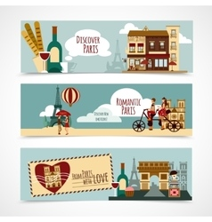 Paris touristic banner vector