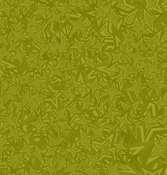 Olive seamless star pattern background vector