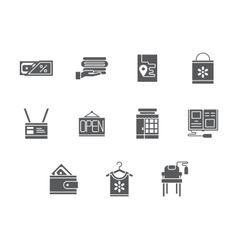 Household e-store glyph style icons set vector