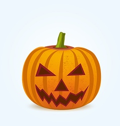 Pumpkin for halloween isoleted on white vector