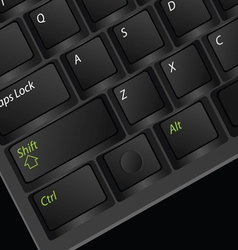 Computer keyboard black vector