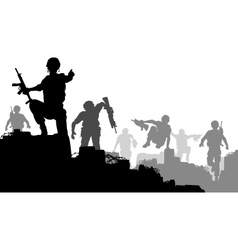 Combat troops vector image