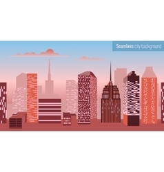 Seamless pattern with architectural building vector