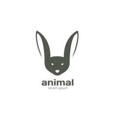 Abstract animal face logo template Rabbit vector image
