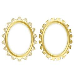 beautiful decorative frames vector image