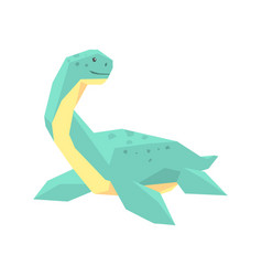 Cartoon elasmosaurus dinosaur character jurassic vector