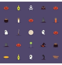 Cartoon halloween objects vector