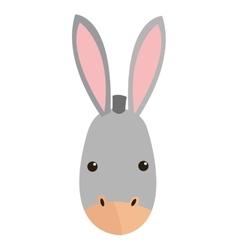 Donkey cartoon icon vector