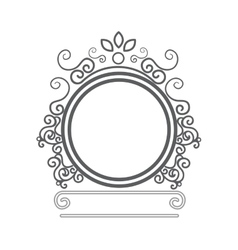 elegant frame decorative icon vector image