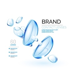 eye contacts lenses ad template vector image
